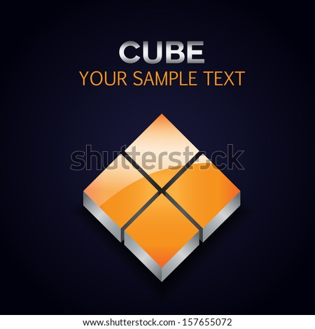 Cube Icon - Isolated On Background - Vector Illustration, Graphic Design Editable For Your Design. - stock vector