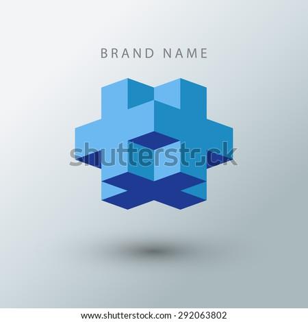 Cube logo design template.  - stock vector