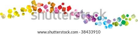 cube rainbow - stock vector