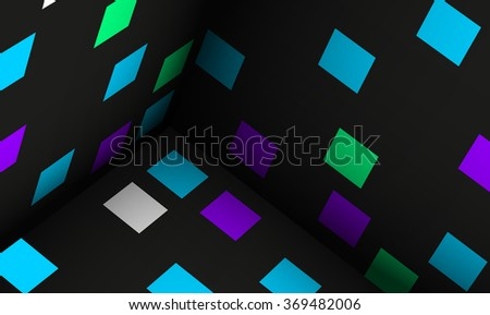 cubes abstract background illustration 3d simulation eps 10  / cubes abstract background illustr  - stock vector