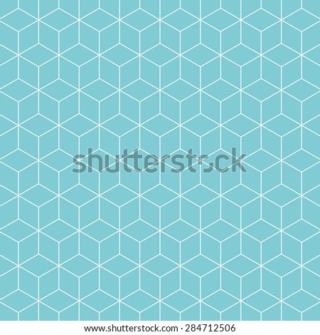 Cubes pattern background. Vintage vector pattern. - stock vector