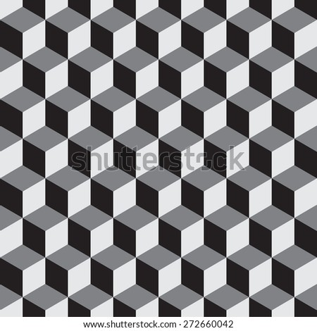 Cubes Seamless  Vector background - stock vector