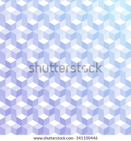 Cubic colorful Pattern. Christmas background. Grid Pattern. Abstract colorful Background. Isometric background. Winter background. Geometric pattern. Vitrage, lavender colors. Vector regular Texture. - stock vector