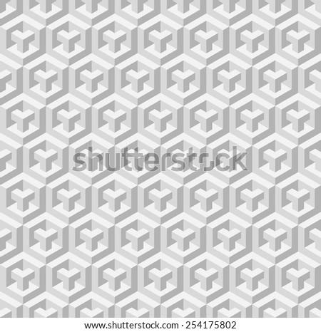 Cubic seamless pattern. Vector illustration - stock vector
