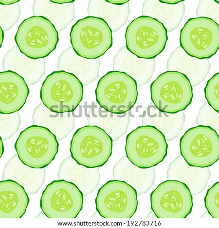 Cucumber seamless  background.