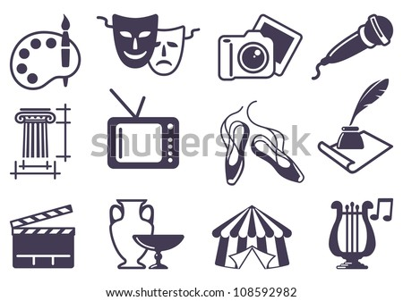 Culture and Art vector icons - stock vector