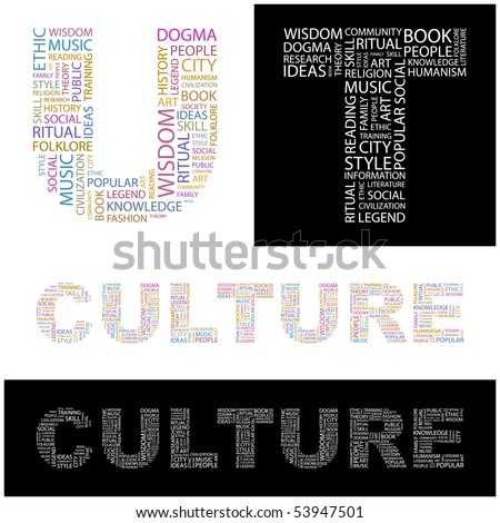 CULTURE. Word collage from design. - stock vector