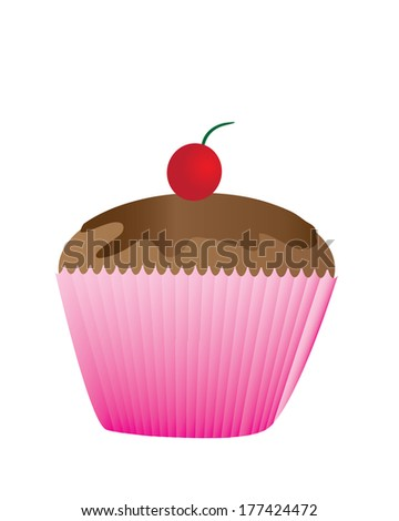 cup cake isolated - stock vector
