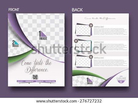 Cup Cake Shop Flyer & Poster Template - stock vector