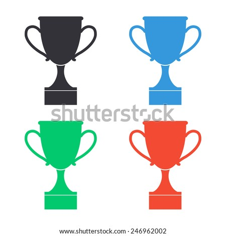 cup icon - colored vector illustration - stock vector