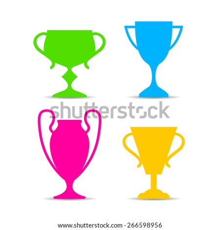 Cup icons set - stock vector