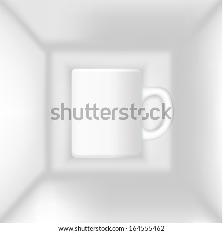 cup in the box vector - stock vector