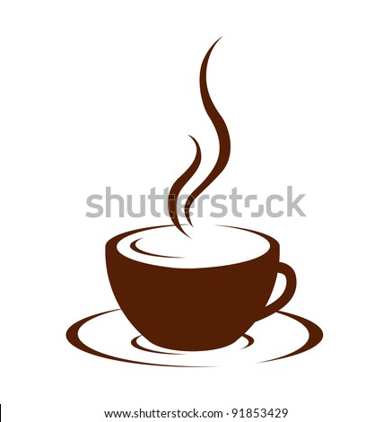 Cup (mug) of hot drink (coffee, tea etc) - stock vector