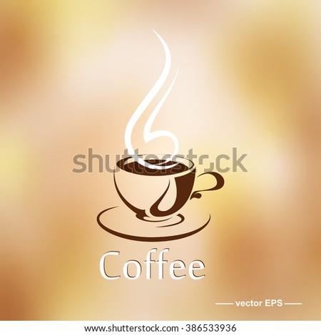 Cup of coffee. Aroma break. Vector. - stock vector