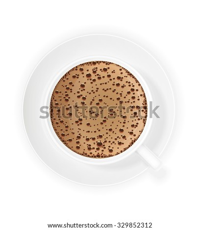 cup of coffee crema vector illustration isolated on white background - stock vector