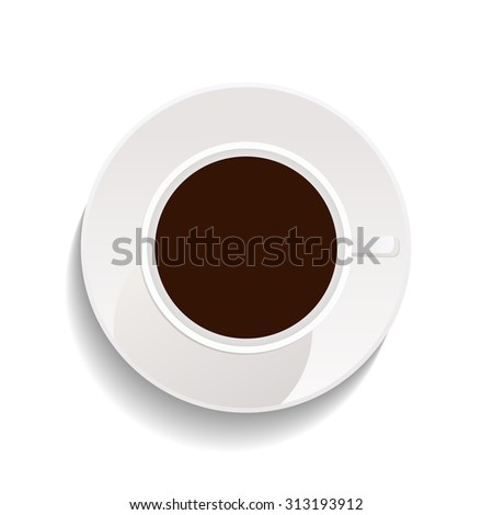 cup of coffee isolated on transparent background. vector illustration