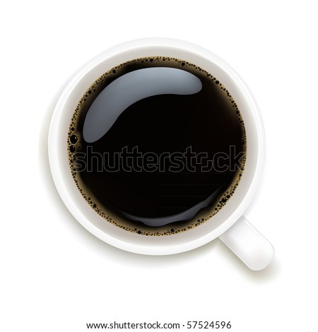 Cup Of Coffee Isolated On White Background, Vector Illustration - stock vector