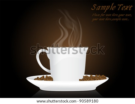 Cup of Coffee Vector Background - stock vector