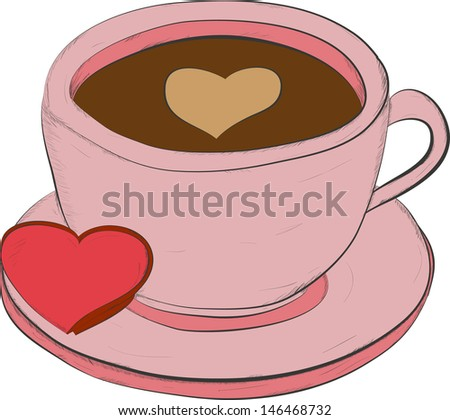 cup of coffee-vector illustration - stock vector