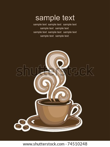 cup of coffee. vector illustration - stock vector