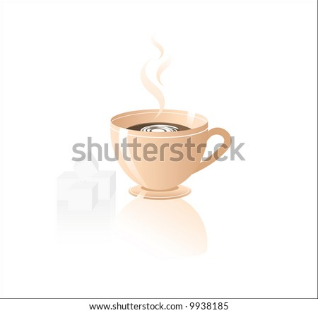 Cup of coffee. Vector illustration. - stock vector