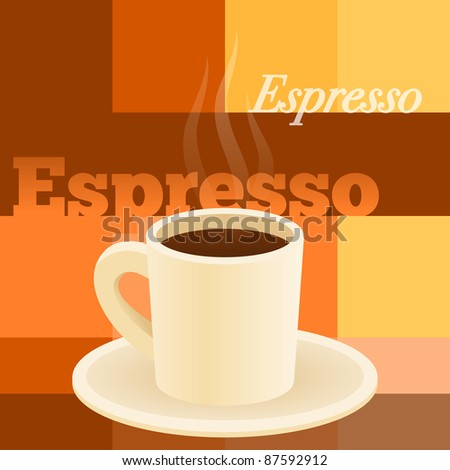 Cup Of Espresso - stock vector