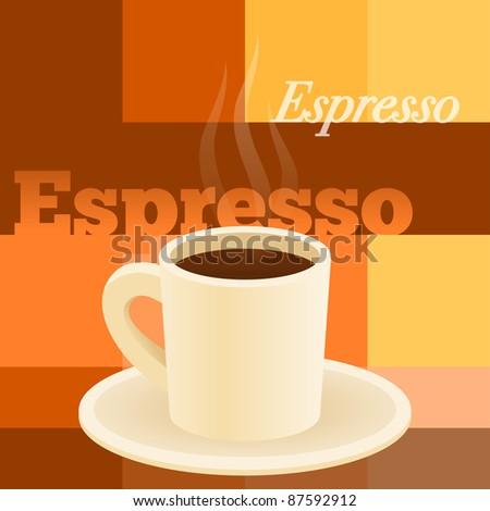 Cup Of Espresso - stock vector