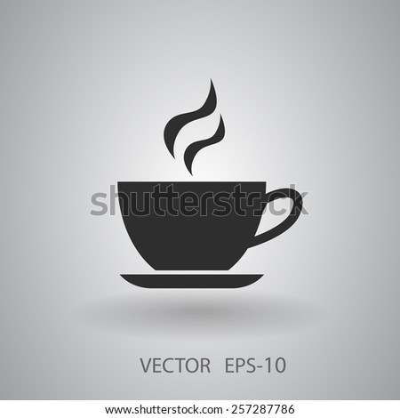 Cup of hot drink icon, vector illustration - stock vector