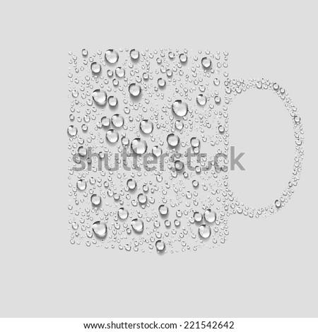 cup, Transparent water vector - stock vector