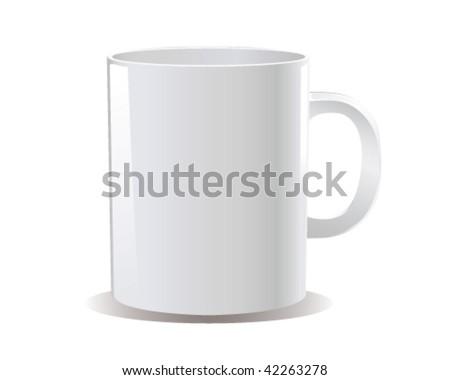 cup vector - stock vector