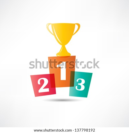 Cup winner icon - stock vector