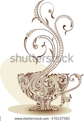 Cup with coffee - stock vector