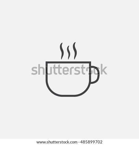 Cup with hot drink icon
