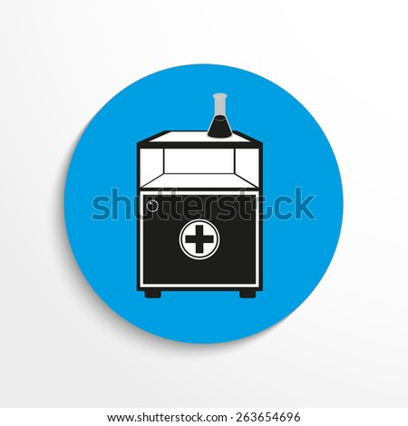 Cupboards medical flat icon illustration background