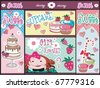 Cupcake  Banners-Desing. - stock vector