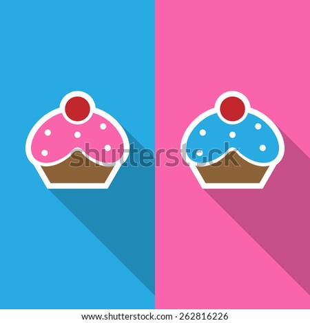 cupcake icon  great for any use. Vector EPS10. - stock vector