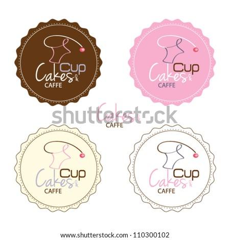 cupcake set - stock vector