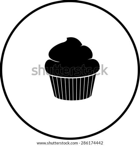 cupcake symbol - stock vector