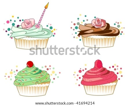 cupcakes - stock vector
