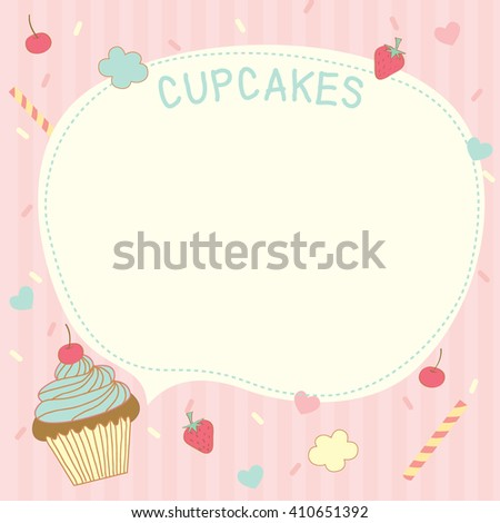 Cupcake Template Design : Stock Photos, Royalty-Free Images & Vectors - Shutterstock