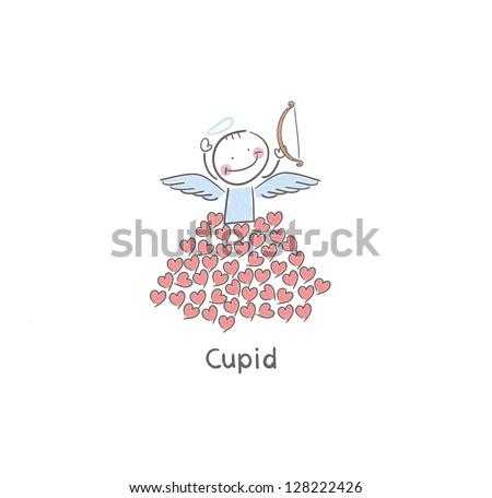 Cupid - stock vector