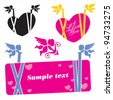 Cupid Banner. Valentine's Day banner. Vector isolated. - stock vector