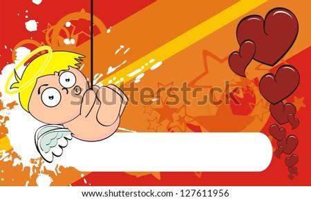 cupid cartoon background in vector format very easy to edit - stock vector
