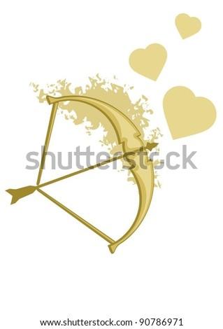 cupid's bow - stock vector