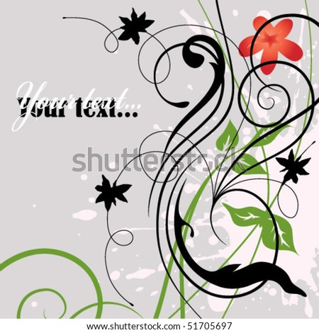 curl background - stock vector
