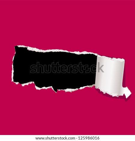 curl paper - stock vector