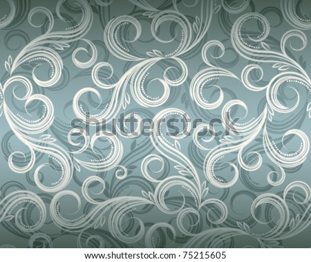 Curl plant floral background, Illustration in eps10 format. - stock vector