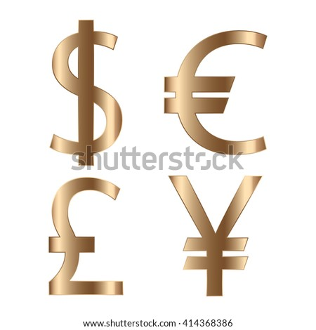 currency dollar euro pound and yen