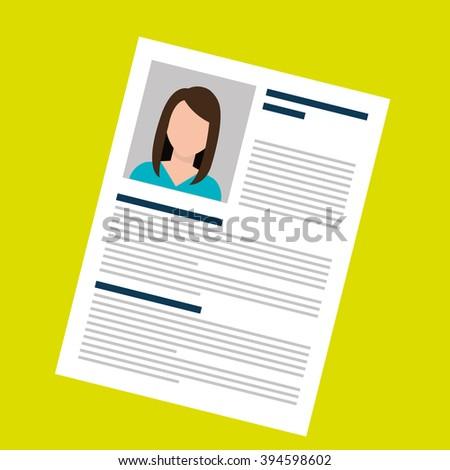 curriculum vitae design  - stock vector