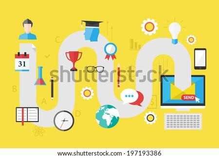 Curriculum vitae. Modern flat design concept. - stock vector